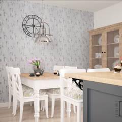 Angielska herbatka/Five o'clock Tea: styl , w kategorii Kuchnia zaprojektowany przez 4 kąty a stół 5 Pracownia Projektowa Ewelina Białobrzewska