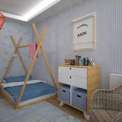 Akay İç Mimarlık & Tasarım – Akın Bebek Odası:  tarz Çocuk Odası