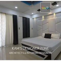 Flat Interior Design for PINKY AGARWAL:  Bedroom by KAM'S DESIGNER ZONE