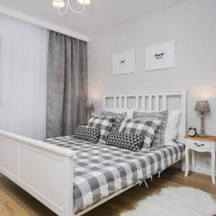 Fabryka Czekolady IV: styl , w kategorii Sypialnia zaprojektowany przez Justyna Lewicka Design