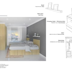 The Oleander Condo:  ห้องนอน by Future Interior Design Co.,Ltd.