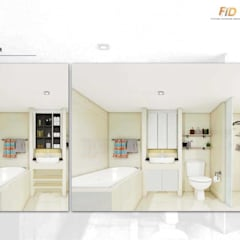 The Oleander Condo:  ห้องน้ำ by Future Interior Design Co.,Ltd.