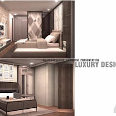 THE ROOM SUKHUMVIT 69 (STYLE LUXURY):  ห้องนอน by Future Interior Design Co.,Ltd.