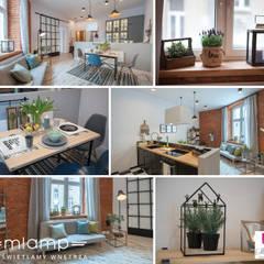 Metamorfoza mieszkania w kamienicy: styl , w kategorii Kuchnia zaprojektowany przez Mlamp