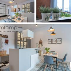 Metamorfoza mieszkania w kamienicy: styl , w kategorii Jadalnia zaprojektowany przez Mlamp