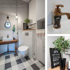 Metamorfoza mieszkania w kamienicy: styl , w kategorii Łazienka zaprojektowany przez Mlamp