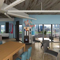 Office Break Room Design: Bureaux de style  par Space Designer 3D