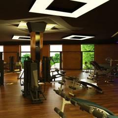 4M Mimarlık – Kaşmir Göl Evleri:  tarz Fitness Odası