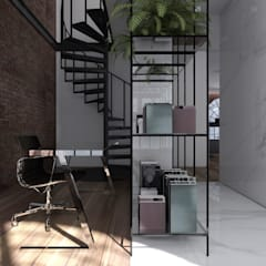 L O F T : styl , w kategorii Domowe biuro i gabinet zaprojektowany przez NOBO