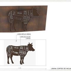 CABETO _ Parrilla y Licores: Locales gastronómicos de estilo  por @tresarquitectos, Industrial