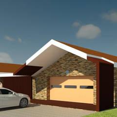 Modern Take on Traditional: Garagens e arrecadações  por André Terleira - Arquitectura e Construção