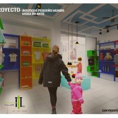 Boutique de bebe - interior: Oficinas y tiendas de estilo  por TALLARQ