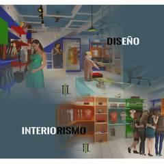 Boutique de bebes - interior: Oficinas y tiendas de estilo  por TALLARQ