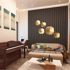 DWARKA SECTOR - 4, RESIDENTIAL PROJECT BY MAD DESIGN:  Media room by MAD DESIGN
