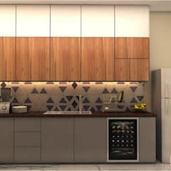 KITCHEN - VIEW 2:  Kitchen by MAD DESIGN