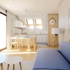 Mieszkanie na poddaszu / Modlnica : styl , w kategorii Jadalnia zaprojektowany przez Huk Architekci