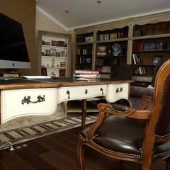 Дом в стиле прованс: Рабочие кабинеты в . Автор – дизайн-студия ПРОСТРАНСТВО ДИЗАЙНА,