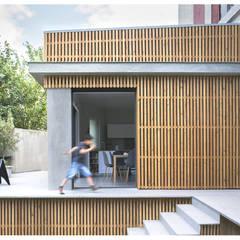 Sannois - extension : Salle à manger de style  par legarrec-architectures