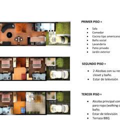 CASAS CONJUNTO TERRACOTA: Habitaciones de estilo  por DG ARQUITECTURA COLOMBIA, Moderno