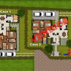 PLANO ARQUITECTONICO : Casas de estilo  por DG ARQUITECTURA COLOMBIA