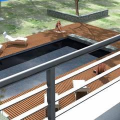 Casa DM: Terrazas de estilo  por Development Architectural group