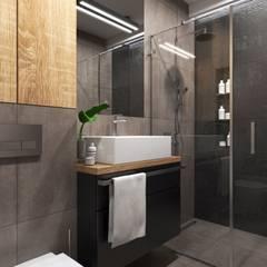 Łazienka w ciemnych odcieniach: styl , w kategorii Łazienka zaprojektowany przez MONOstudio