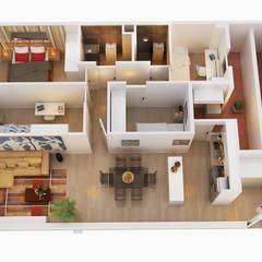Arco de Triunfo -80 m²-, Barcelona. Estado reformado.: Comedores de estilo  de GokoStudio