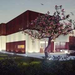 CASA  MADORRA: Casas de estilo moderno de EAU ARQUITECTURA S.L.P.