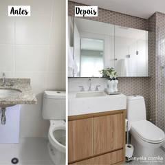 Antes e Depois: Banheiros  por Danyela Corrêa Arquitetura,Moderno