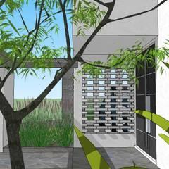 Casa AFL: Jardines de invierno de estilo  por Development Architectural group