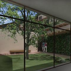 Hotel Resort y Spa 5 estrellas Cerro Dorado: Jardines de invierno de estilo  por Development Architectural group
