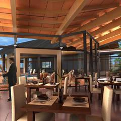 Hotel Resort y Spa 5 estrellas Cerro Dorado: Comedores de estilo  por Development Architectural group