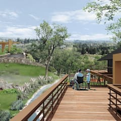Hotel Resort y Spa 5 estrellas Cerro Dorado: Jardines de estilo mediterraneo por Development Architectural group