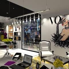 Home office Nueva York: Estudios y oficinas de estilo  por Diseño de Locales