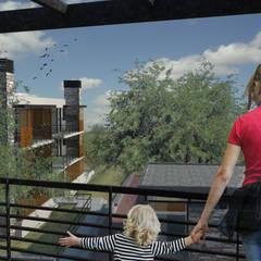 Lagrange Parc Departamentos de categoría: Terrazas de estilo  por Development Architectural group
