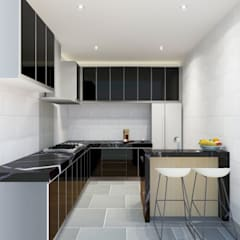 Kitchen 3D Design #4:  ห้องครัว by SIAMTAK CO., LTD.