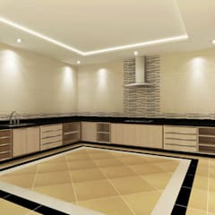 Kitchen 3D Design #9:  ห้องครัว by SIAMTAK CO., LTD.