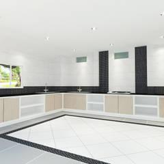 Kitchen 3D Design #12:  ห้องครัว by SIAMTAK CO., LTD.