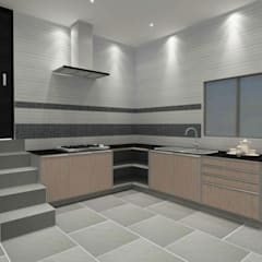 Kitchen 3D Design #13:  ห้องครัว by SIAMTAK CO., LTD.