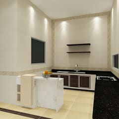 Kitchen 3D Design #14:  ห้องครัว by SIAMTAK CO., LTD.