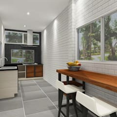 Kitchen 3D Design #16:  ห้องครัว by SIAMTAK CO., LTD.
