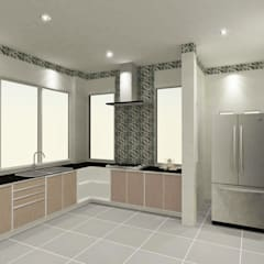 Kitchen 3D Design #18:  ห้องครัว by SIAMTAK CO., LTD.