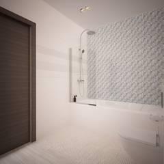 ЖК Мичуринский. Двухкомнатная квартира.: Ванные комнаты в . Автор – дизайн-бюро ARTTUNDRA