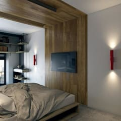 North Point Residential:  Bedroom by CLOUD9 DESIGN