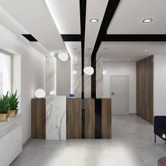 Salon kosmetyczny & Day SPA - projekt recepcji i wc: styl , w kategorii Kliniki zaprojektowany przez Creoline
