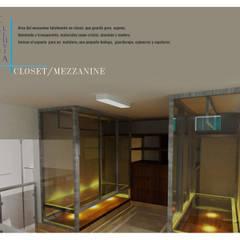 Interior closet ppal. : Vestidores y closets de estilo  por TALLARQ