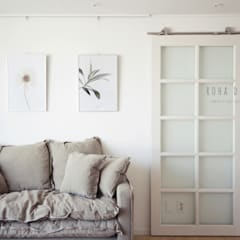 컨트리 빈티지의 32평 신혼집 인테리어: 로하디자인의  창문,컨트리