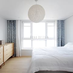 컨트리 빈티지의 32평 신혼집 인테리어: 로하디자인의  침실,컨트리