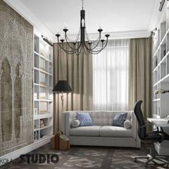 GABINET W Stylu Angielskim : styl , w kategorii Domowe biuro i gabinet zaprojektowany przez MIKOŁAJSKAstudio