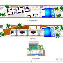 Makao Beach Hostel: Hoteles de estilo  por Alta Gama Arquitectos
